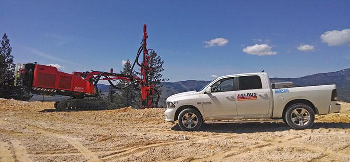 Sandvik Drill and ELRUS Truck