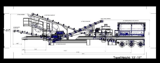 elrus closed circuit crushing and screening plant general arrangement
