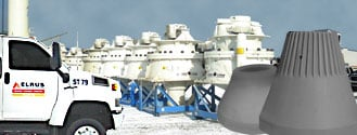 ELRUS Aggregate Systems, Sandvik Cone Crusher, Hydrocone, Cone Liner, Cone wear parts, manganese