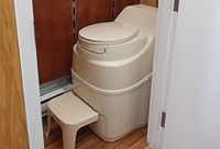 Self-contained composting toilet