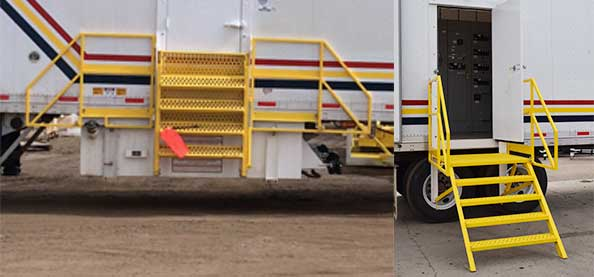 Folding Stairs for Power Vans
