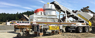 ELRUS Chassis with Sandvik VSI Crusher
